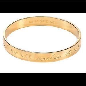 Authentic Gold Kate Spade -mom said so bracelet
